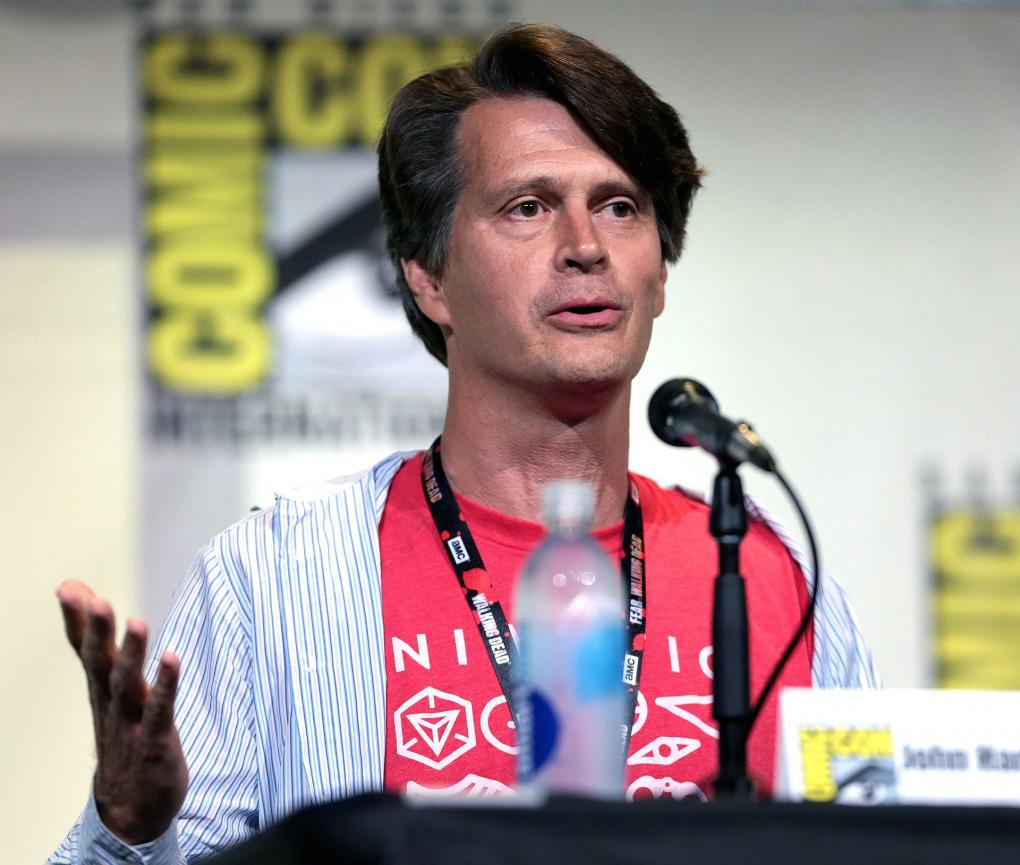 John Hanke speaking at the 2016 San Diego Comic-Con International in San Diego, California.