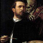 ヴァイオリンを弾く死神のいる自画像が来日