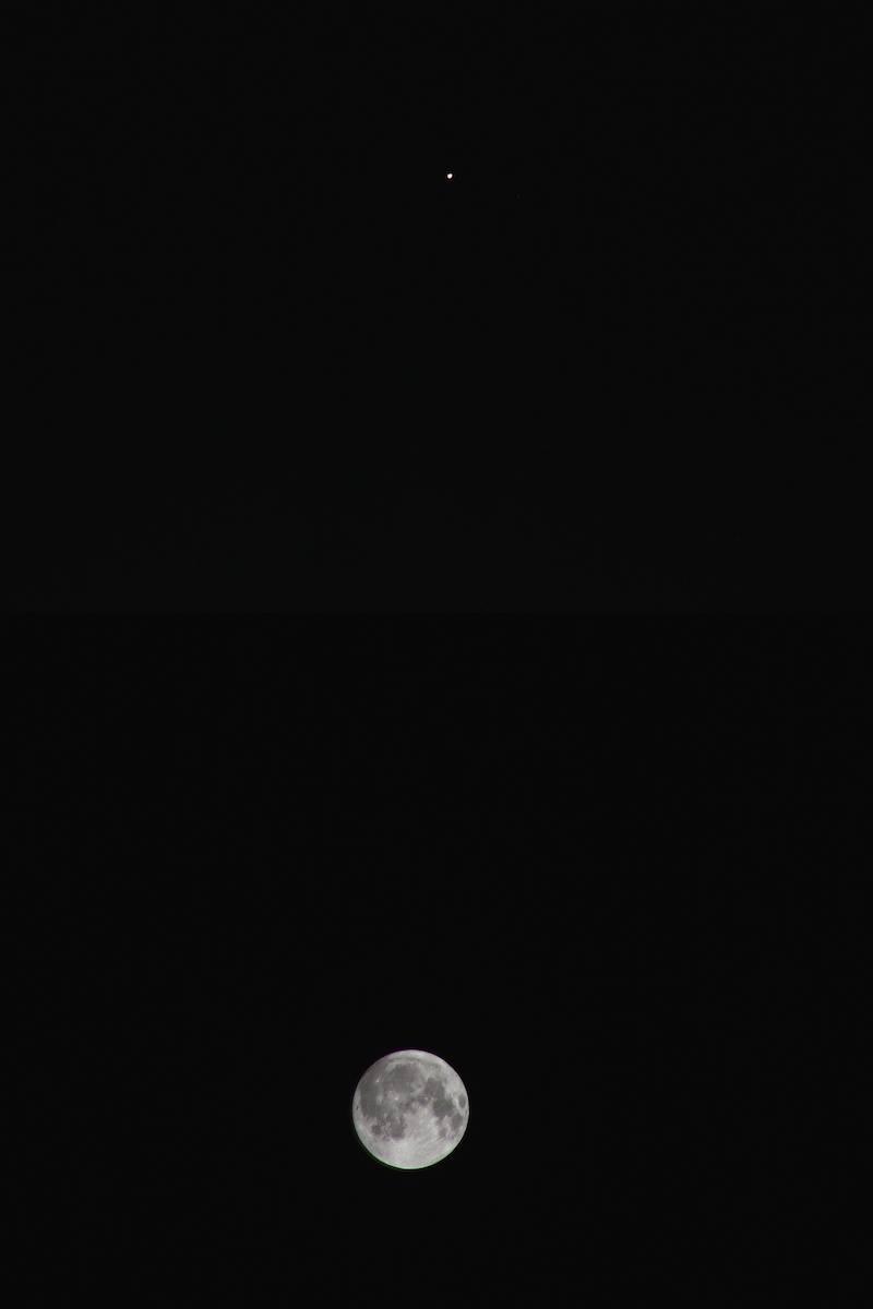 14年4月、月と火星が接近