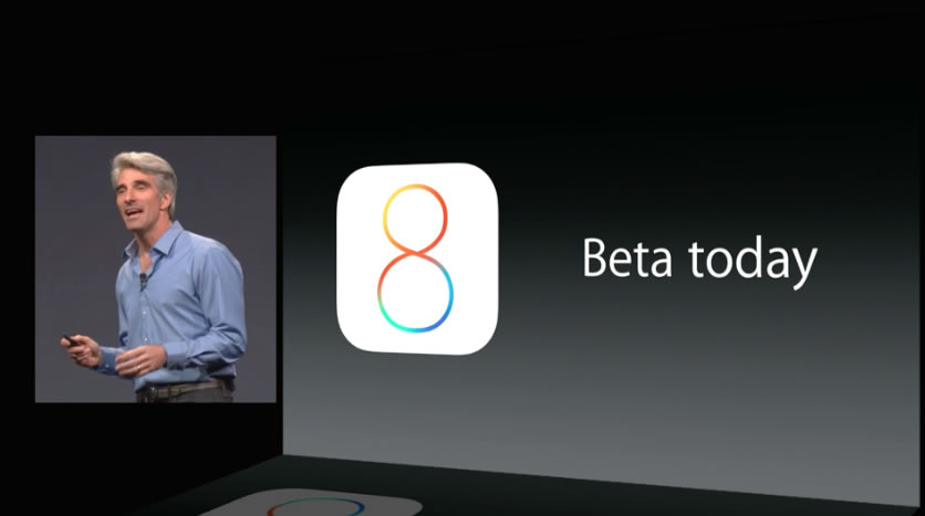 iOS 8 beta today
