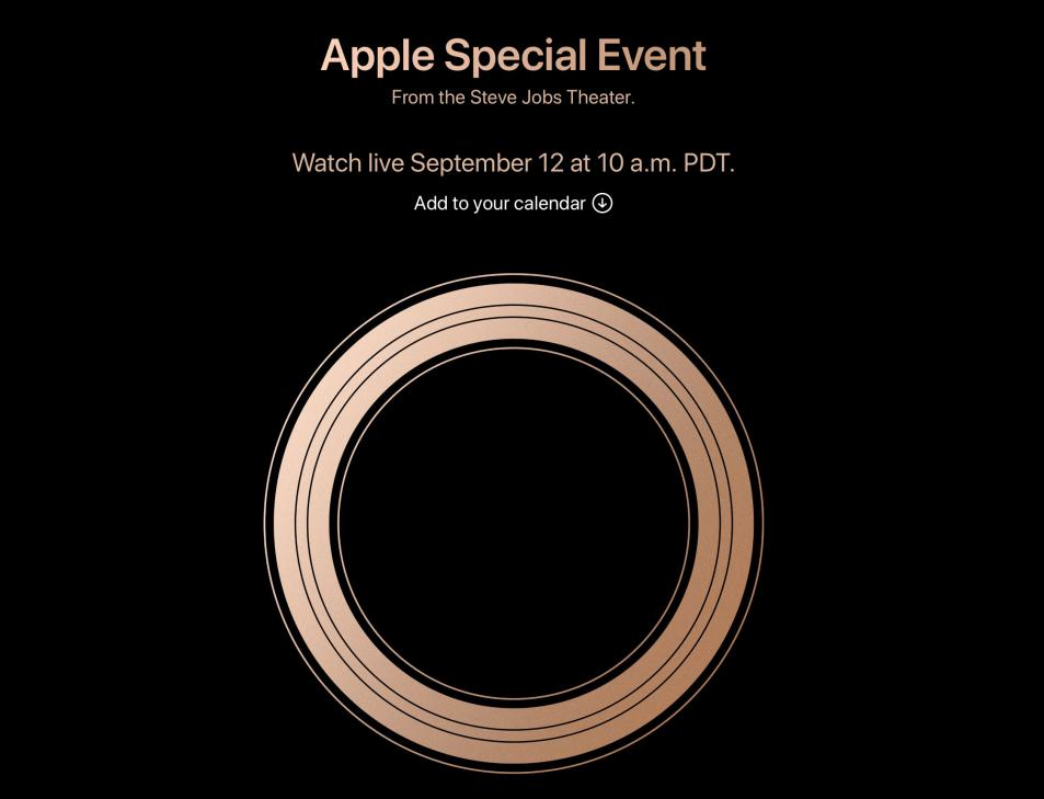 Apple Special Event. September 12, 2018 Live Update