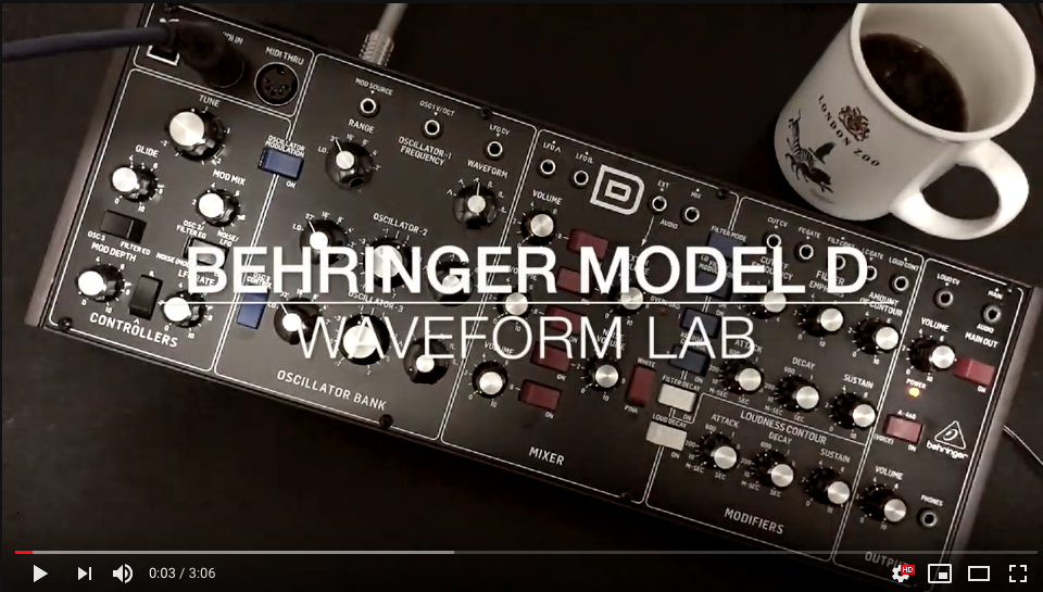 BEHRINGER MODEL D - plays 2 parts - 1st Day
