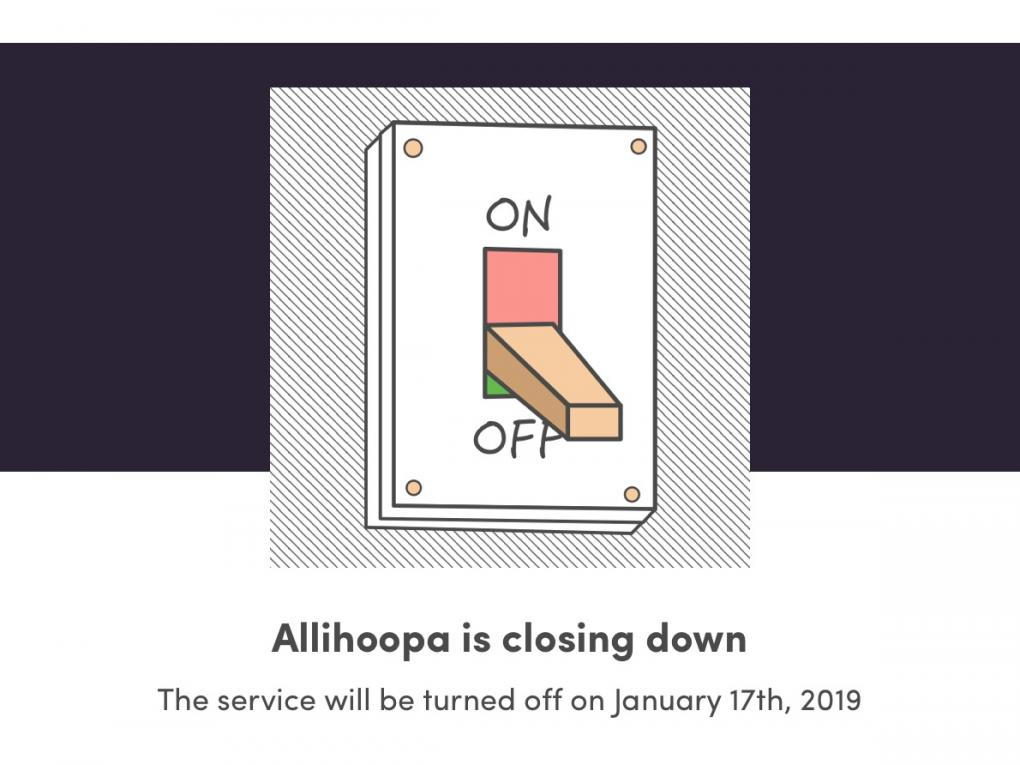 Allihoopa is closing down