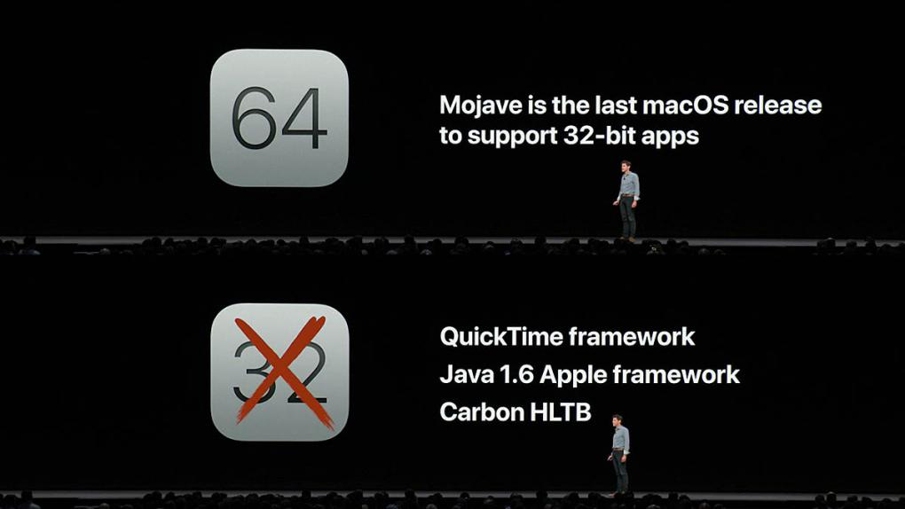 Mojave is the Last macOS Release to Support 32 bit apps