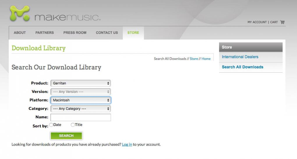 MAKE MUSIC Download Library