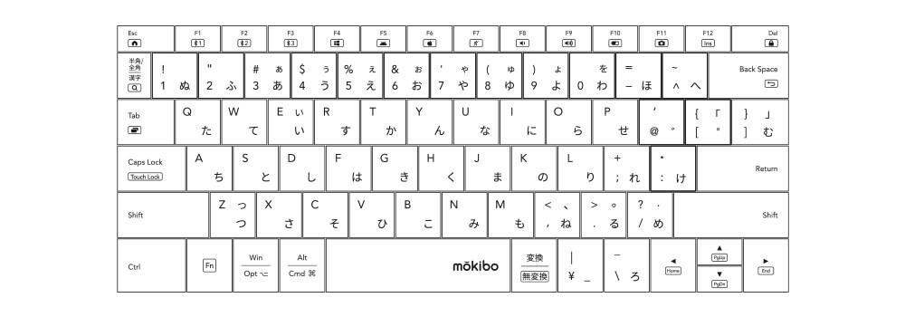 mokibo 日本語配列